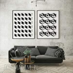 pattern - zestaw plakatów 40x50 cm, geometryczne plakaty, plakat geometria