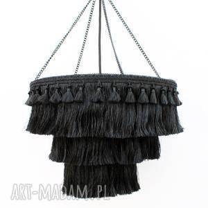 lampa fringe boho, etniczna, eklektyczna, sypialni, chwostami, frędzlami