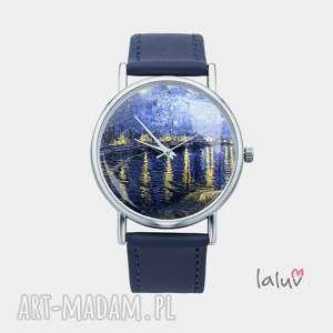 zegarek z grafiką gwiaździsta noc nad rodanem, vincent, van, gogh, obraz