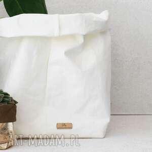 biała duża osłonka na doniczkę pak xxl worek dekoracyjny, osłonki doniczki
