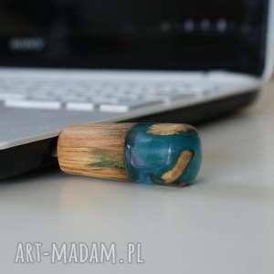 Pendrive drewno z żywicą [LUMI Collection], pendrive, komputer, laptop, drewno, las