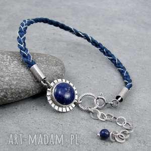 handmade barwne warkocze z lapisem lazuli