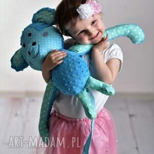 Prezent Przytulanka dziecięca małpka, przytulanka-minky, poduszka-małpka