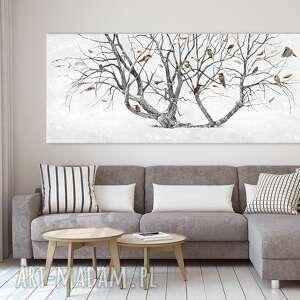 elegancki obraz z motywem drzewa wydrukowanym na płótnie drzewo życia duży