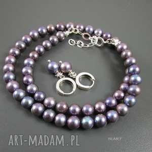 Komplet z pereł, srebro, perły