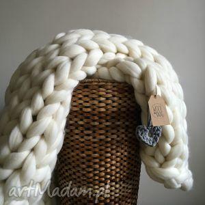 handmade koce i narzuty pled xxl 120x180 wełna merynos chunkyblanket