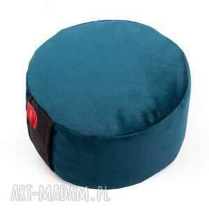 welurowa poduszka zafu do medytacji - z pokrowcem gryką - tworky, joga
