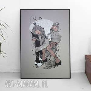 Piękna grafika Yin i yang - SITODRUK, grafika, sitodruk, obraz, dom, wnętrze, wystrój