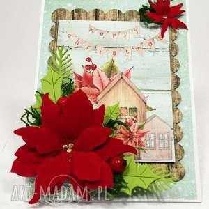 ręcznie robione święta prezent kartka świąteczna