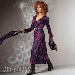 katarzyna magic rose - sukienka w kwiaty, efektowna, koktajlowa, elegancka