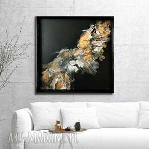 piasek pustyni 80x80 cm, abstrakcja ręcznie malowana, obraz do salonu