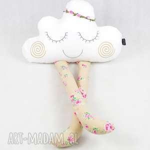 rustykalna chmurka przytulanka 90 cm - rustykalna, boho, kwiatki, chmurka, zabawka