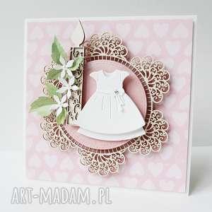 hand-made scrapbooking kartki w białej sukience - w pudełku