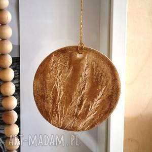 Wisior ceramiczny, wisior, kwiat, medalion, brelok, wisiorek