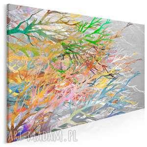 obraz na płótnie - kolorowe fale modny 120x80 cm 95801, fale, kolorowy