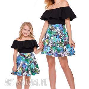 Mama i córka Spódnica z koła dla córki LD11/1, spódnica, rozkloszowana, córka, mini