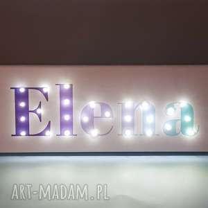 napis led obraz z imieniem pastelowy ombre personalizowany dekoracja lampa