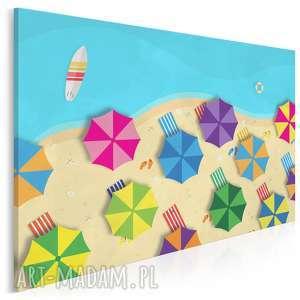 obraz na płótnie - plaża morze wakacje 120x80 cm 94901, plaża