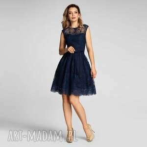 sukienki sukienka lexie mini josefina granat, mini, koronka