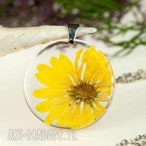 Prezent z1315 Naszyjnik z prawdziwym kwiatem-5cm , naszyjnik-z-kwiatem
