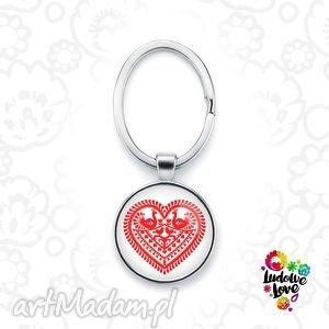 brelok do kluczy serce kurpiowskie, polskie, wzory, ludowe, folk, prezent