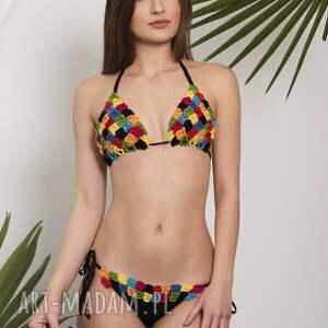Kostium kąpielowy szydełkowy Dominikana , kostium, strój, bikini, kapielowy