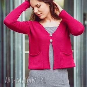 Rozpinany sweter z kieszonkami swetry hermina damski sweter