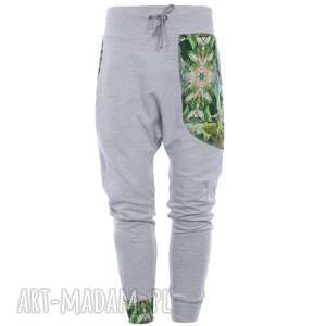 Spodnie dresowe damskie jungle - baggy szare mimi monster