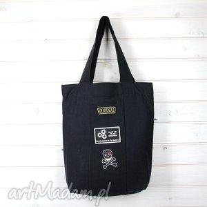 42e5a709e3731 na ramię dzinsowa torba z naszywkami