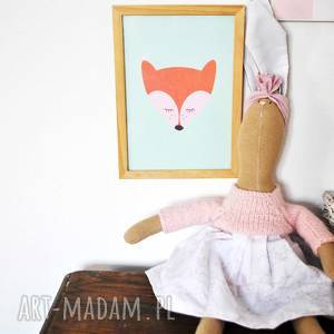 hand-made maskotki pani królik przytulanka z imieniem