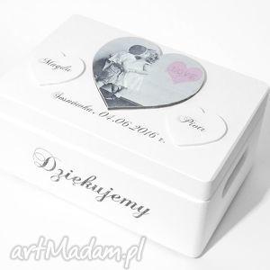księgi gości ślubne pudełko na koperty kopertówka personalizowane serce love