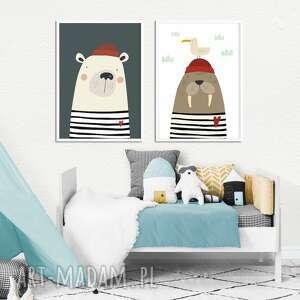 Zestaw plakatów marynarze pokoik dziecka well marynarz, plakat
