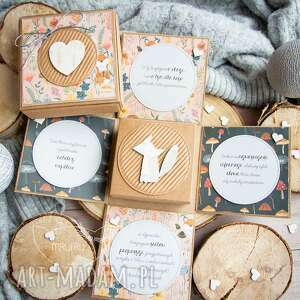 kartki leśne eksplodujące pudełeczko treść ustalana wspólnie dla dziecka