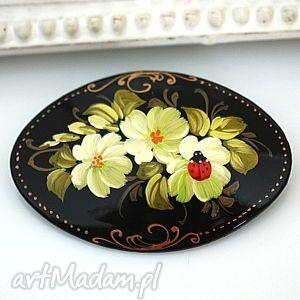 madamlili ♥ręcznie malowana drewniana - biedronka, recznie
