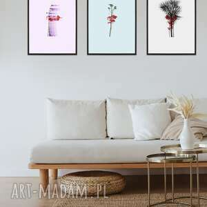 zestaw 3 printów a3 - blood of nature, grafika drukowana, plakat, ilustracja