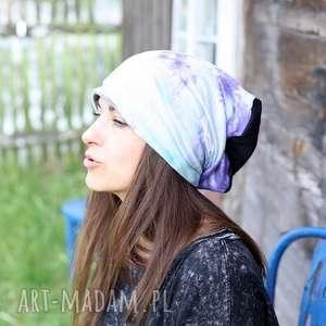 czapka na podszewce bawełniana farbowana ręcznie kolor, czapka, bawełna, wiosna, etno