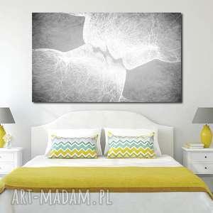 Obraz XXL TWARZE 3 -120x70cm design na płótnie pocałunek szary, obraz, płótno