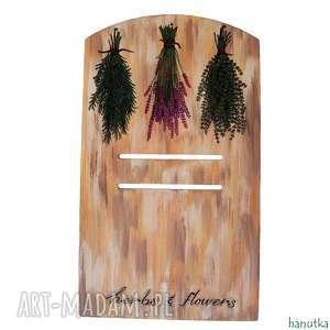 zioła z prowansji - deseczka pod kalendarz, prezent, podkładka