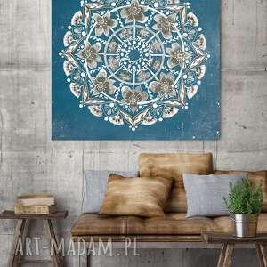 Mandala 50x50cm, plakat, mandala, mandale, sztuka, obraz, ilustracja