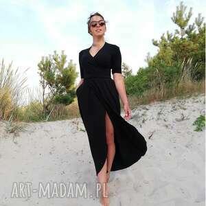 sukienki czarna sukienka maxi - gaja