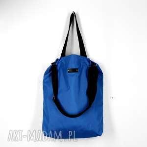 na ramię granatowa pojemna torba shopper wodoodporna, pojemna, wodoodporna