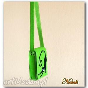 natali neonowa torebka z aplikacją 3d, torby, torebki, hand made, filc, kobieta