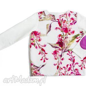 BLUZKA bloom print, bluzeczka, dziewczęca, wigilia, kwiatowa, ecru, uroczystość