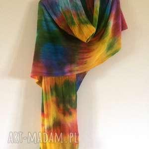 hand-made szaliki ciepły kolorowy wełniany szal