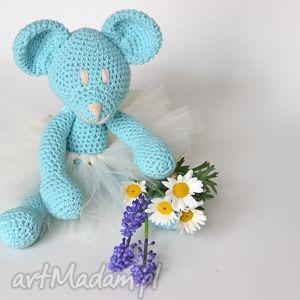 handmade zabawki daisy miętowa miśka baletnica