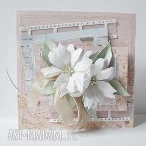 scrapbooking kartki pastelowa- w pudełku, ślub, gratulacje, życzenia, kartka