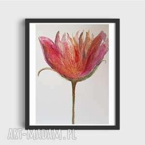 kwiatek-akwarela formatu a4, akwarela, papier, kwiatek, farby