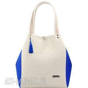 torebka lniana simple 139 - len, modna, nowość, lato