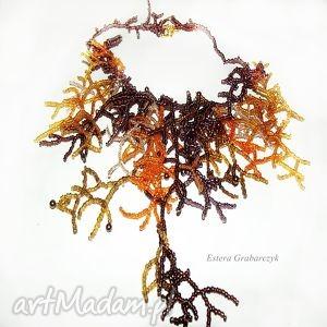 ręcznie zrobione naszyjniki koralikowy koralowiec
