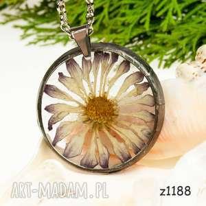 z1188 naszyjnik z żywicy z suszonymi kwiatami - naszyjnik-z-żywicy, real-flower